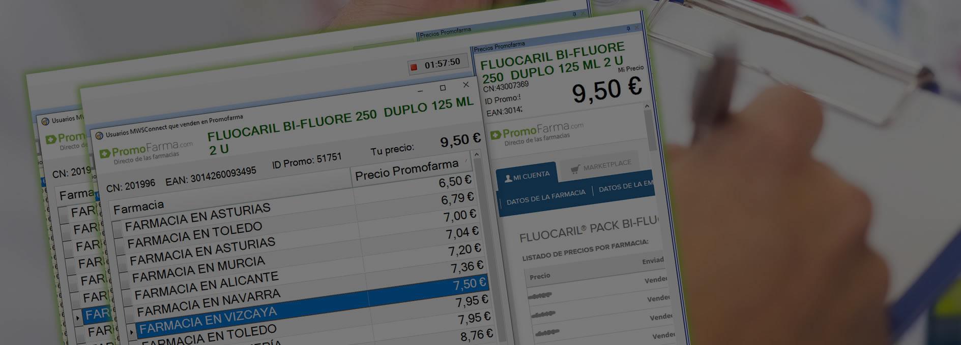 saber el precio de los productos en promofarma.com