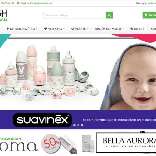 ejemplo de web ecommerce NGHFARMACIA